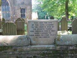 Plaque near Bronte Parsonage Museum, Haworth