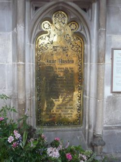 Jane Austen buried in Winchester Cathedral
