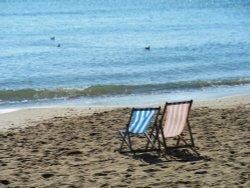 Deckchairs, Swanage Beach