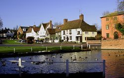Village pond and green, Finchingfield