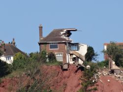 House split in half due to a landslide