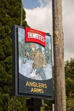 The Anglers Arms pub sign, Haverthwaite