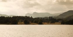 Langdale Pikes from Windermere