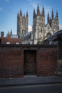 A view of Canterbury Cathedral.