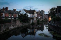 Sunset in Canterbury, Kent. Wallpaper