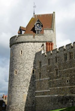 A tower on Windsor Castle