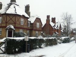 Houses around the Green during Winter