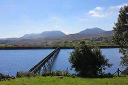 Footbridge over Llyn Trawsfyndd