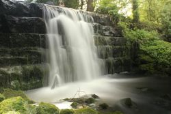Roche Abbey waterfall