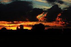 Sunset near Barnsley, S Yorks