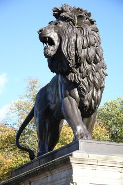 The Maiwand Lion in the Forbury Gardens, Reading