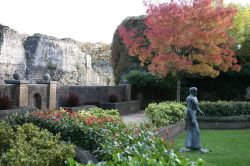 The Frink Statue near the Abbey Ruins, Reading