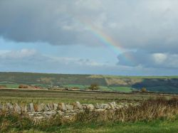 Rainbow over the Purbeck downs