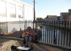 Busker in the town of Lewes