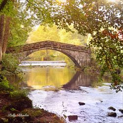 St. Bartram's Bridge over the River Manifold, Ilam, Derbyshire