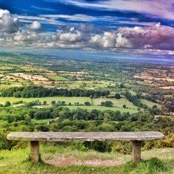 View from top of the Malvern Hills