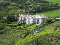 A hotel across the bay at Port Isaac