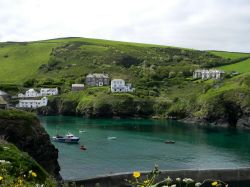 Seaside view from the bay at Port Isaac