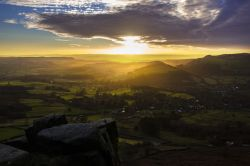 Sunset on Curbar Edge 3 Wallpaper