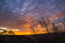 Sunset on Curbar Edge 5 Wallpaper
