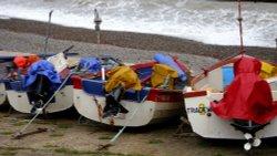 Crab Boats Ashore