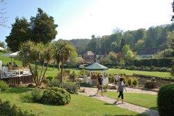 Cockington village in Devon Into the gardens