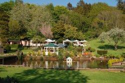 Cockington village in Devon  Over the pond