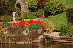 Cockington village in Devon  The little Red bridge