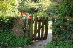 Cockington village in Devon The open gate