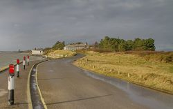 Road leading to Coastguard Cottages, Lepe