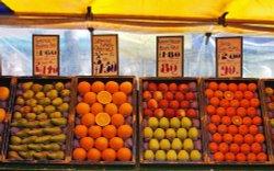St Albans market fruit stall