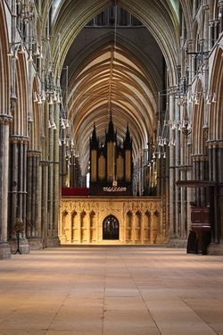 Lincoln Cathedral, the nave.