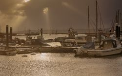Sunrays over Lymington River