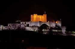 Dover Castle at Night from Western Heights