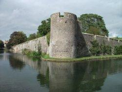 Bishop's Palace moat, Wells, Somerset