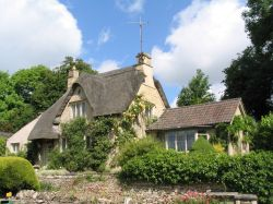 Castle Combe - Thatched-Roof Cottage - June, 2003