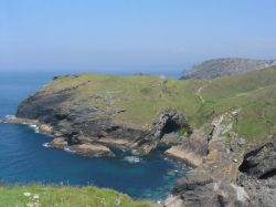 Tintagel Cove, Merlin's Cave June 2003