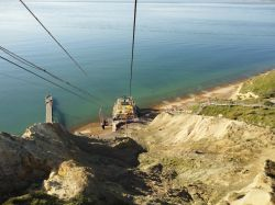 Chairlift down to Alum Bay, Isle of Wight