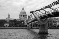 St Paul's and the footbridge