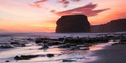 Sunrise over Marsden Rock