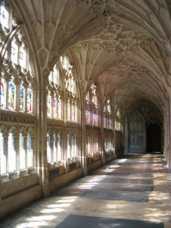Gloucester Cathedral Cloisters (4) - June 2003