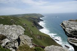 Coastpath walk with view on English channel