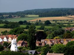 View Rye church to windmill Wallpaper