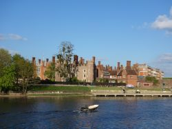 Hampton Court Palace across the Thames