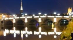 Worcester at night