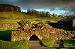 Ancient ruins of Sawley Abbey,
