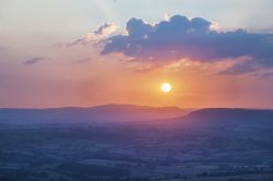 Sunset over Monmouthshire, from the Kymin.