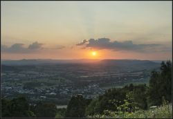 Sunset over the Brecon Beacons, From the Kymin.