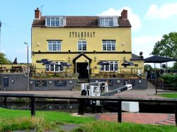 The Steamboat public house at Trent Lock, Sawley, Derbyshire