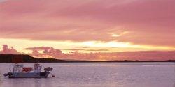 Fishing Boat Sunset from Mudeford Quay